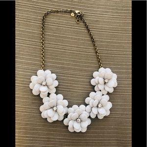 JCrew Flower Statement Necklace
